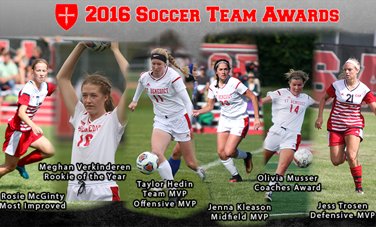 hedin named 2016 csb soccer mvp college of saint benedict athletics